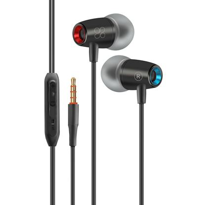 Picture of PROMATE Dynamic In-Ear stereo earphones with In-Line microphone.