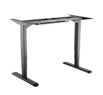 Picture of BRATECK Electric Sit-Stand Desk Two Leg Frame. 3-Stage Reverse Dual