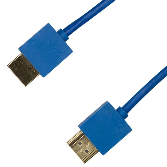 Picture of DYNAMIX 3M HDMI BLUE Nano High Speed With Ethernet Cable.