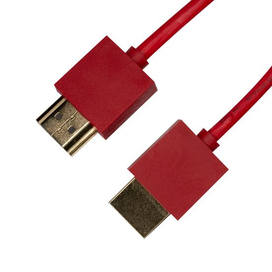 Picture of DYNAMIX 2M HDMI RED Nano High Speed With Ethernet Cable.