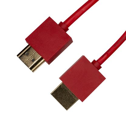 Picture of DYNAMIX 1.5M HDMI RED Nano High Speed With Ethernet Cable.