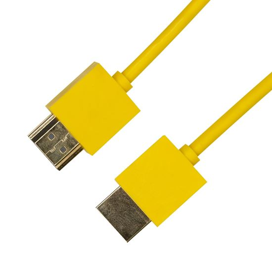 Picture of DYNAMIX 0.5M HDMI YELLOW Nano High Speed With Ethernet Cable.