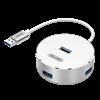 Picture of UNITEK USB3.0, 4 Port Aluminium Hub. USB3.0 backward compatible