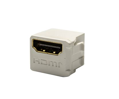Picture of DYNAMIX HDMI 2.0 Mini Coupler 19.2mm, Gold-Plated, WHITE