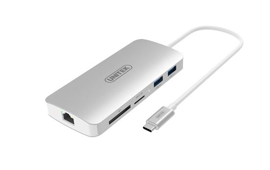 Picture of UNITEK USB 3.1 Type-C Aluminium Multi-Port Hub with Power Delivery.