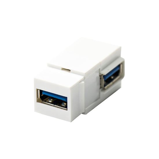 Picture of DYNAMIX USB3.0 Keystone Jack Type-A Female to Right Angled