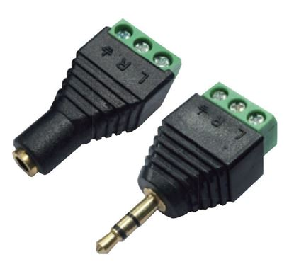 Picture of BRATECK 3.5mm Stereo to Wired Adapter, PAIR