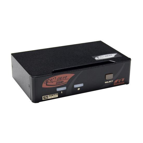 Picture of REXTRON 2 Port DisplayPort USB KVM with Audio.