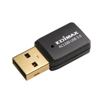 Picture of EDIMAX AC1200 Dual-Band MU-MIMO USB 3.0 Adapter. Max speed up to 300Mbp