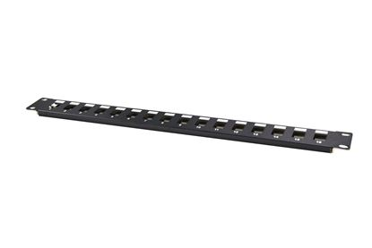 Picture of DYNAMIX 19' 16 Port Unloaded Patch Panel Keystone Inserts, 1RU