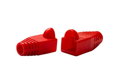 Picture of DYNAMIX RED RJ45 Strain Relief Boot (6.0mm Outside Diameter).