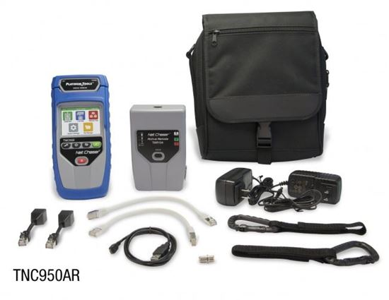Picture of PLATINUM TOOLS Net Chaser Ethernet Speed Certifier & Network Tester.