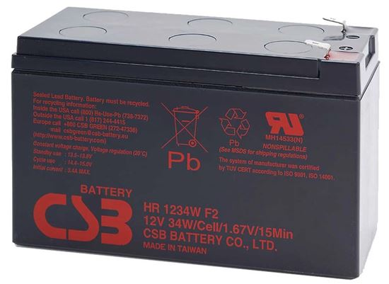 Picture of CSB 12V 9.0 AH Replacement UPS Battery - 1 Year Warranty.