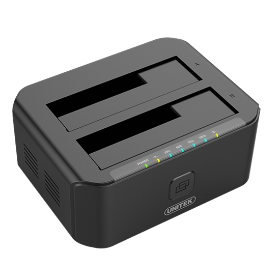 """Picture of UNITEK USB3.0 to SATA 6G Dual Bay 2.5""""/3.5"""" HDD Docking Station"""