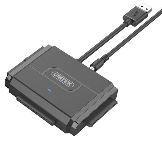 Picture of UNITEK USB3.0 to IDE + SATA Converter. Power Adapter