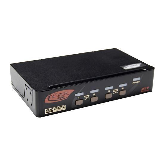 Picture of REXTRON 4 Port DisplayPort USB KVM with Audio.
