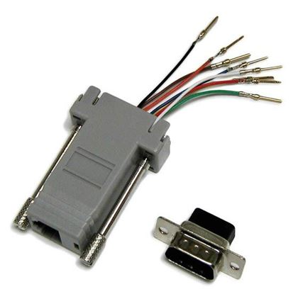 Picture of DYNAMIX DB9 Male to RJ45 Adaptor (8 Wire)