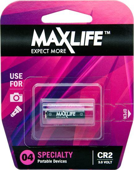 Picture of MAXLIFE CR2 Lithium 3V Battery. 1Pk.
