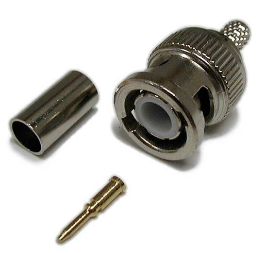 Picture of DYNAMIX 3 pcs RG6, 75?, BNC Connector Crimp Type