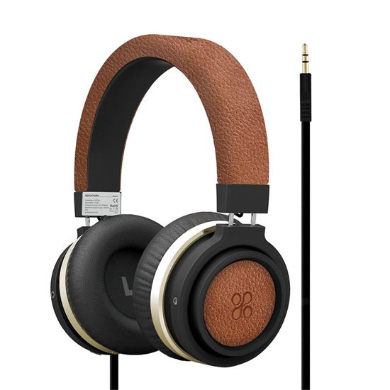 Picture of PROMATE Over-Ear Ergonomic Wired Headphones. Passive noise