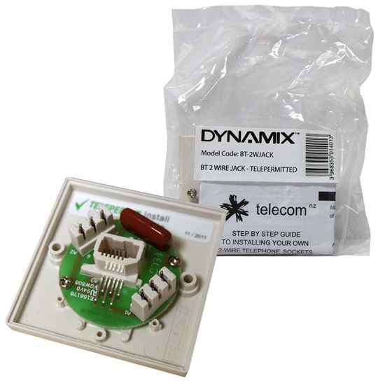 Picture of DYNAMIX BT 2 Wire Jack Telepermited *** NO Mounting Block Supplied