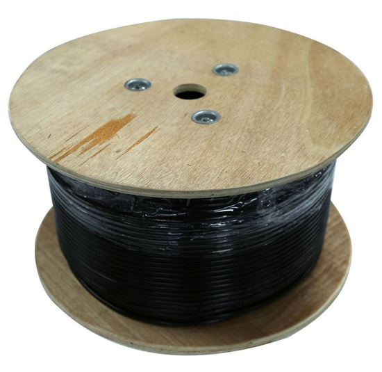 Picture of DYNAMIX 500m Cat6 Black SOLID GEL Filled Outdoor cable, 23AWGx4P,