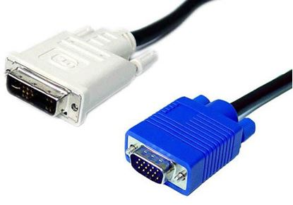 Picture of DYNAMIX 2m DVI-A (12+5) Male to VGA Male Cable