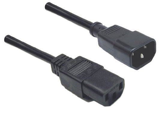 Picture of DYNAMIX 0.2M IEC Male to Female 10A SAA Approved Power Cord.
