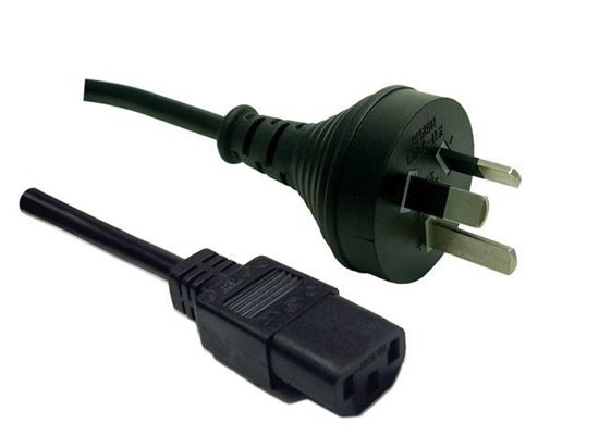 Picture of DYNAMIX 0.5M 3-Pin Plug to IEC Female Plug 10A, SAA Approved Power