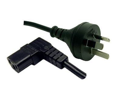 Picture of DYNAMIX 2M 3-Pin Plug to Right Angled IEC Female Connector 10A.