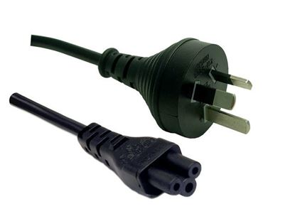 Picture of DYNAMIX 2M 3-Pin to Clover Shaped (IEC 320 C5) Female Connector 7.5A.
