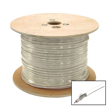 Picture of DYNAMIX 305m Roll RG6 Shielded Cable. White. 75?. 18AWG solid
