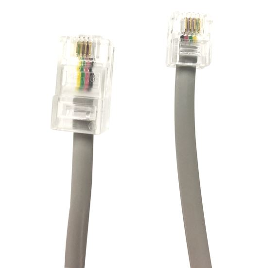 Picture of DYNAMIX 5m RJ12 to RJ45 Cable - 4C All pins connected crossed,