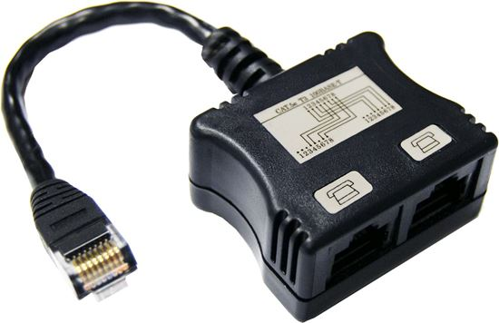 Picture of DYNAMIX RJ45 Dual Adapter (2x Analogue Ph.) with short cable