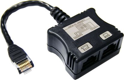 Picture of DYNAMIX RJ45 Dual Adapter (1x UTP, 1x Ph.) with short cable