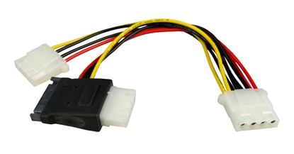 Picture of DYNAMIX Dual Port Serial ATA Power Splitter Cable, Converts