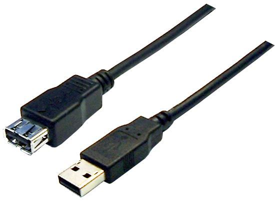 Picture of DYNAMIX 1m USB 2.0 Cable Type-A Male/Female Connectors.