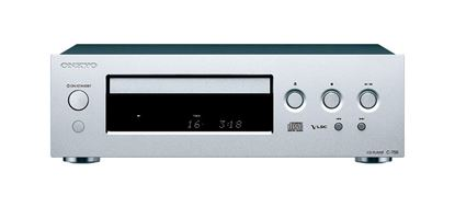 Picture of ONKYO CD Player. Flat anti- vibration chassis. Stability