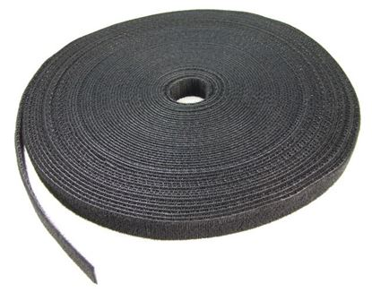Picture of DYNAMIX Hook & Loop Roll 20m x 12mm dual sided, BLACK colour