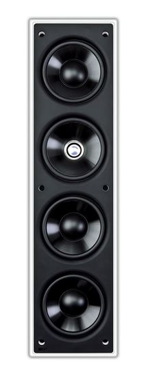 """Picture of KEF THX Rectangle In Wall Speaker with 3x 4"""" (LF), 1x 4"""" (MF), 1x"""