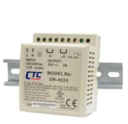 Picture of CTC UNION 48W Industrial Power Supply. -20°C~70°C. Input 85V~264V