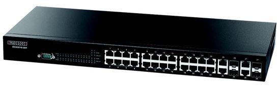 Picture of EDGECORE 28 Port Gigabit Managed L3 Switch 24x GE RJ-45, 2x 10G Uplink,