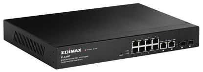 Picture of EDIMAX 8 Port 10/100 Fast Ethernet Web Smart PoE+ Switch. Includes