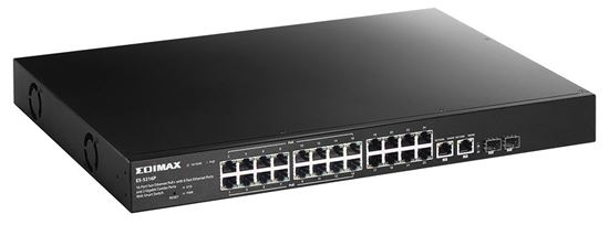 Picture of EDIMAX 16Port 10/100 Fast Ethernet Web Smart Switch. PoE+ and 8