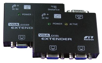 Picture of REXTRON Video Extender. Allows VGA signal to be extended up to 150m