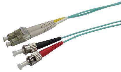 Picture of DYNAMIX 3M 50u LC/ST OM3 Fibre Lead (Duplex, Multimode)