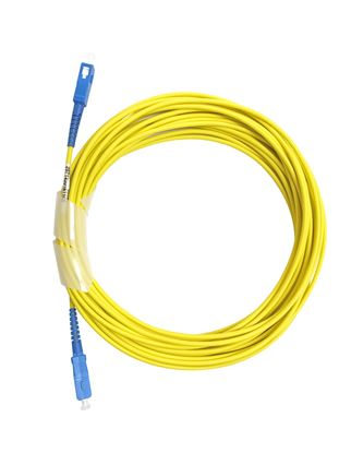 Picture of DYNAMIX 100M SCA/SCA OS2 Armoured Fibre Lead (Simplex, Single mode)