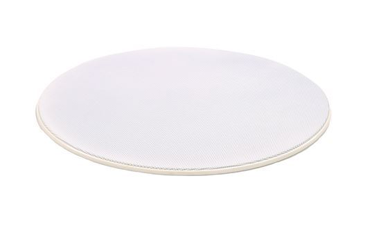 """Picture of LUMI AUDIO 6.5"""" Frameless Round Grill for the FLC-6I  Angled"""