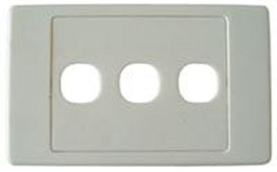 Picture of AMDEX Triple Port RJ45 Face Plates AMDEX style.