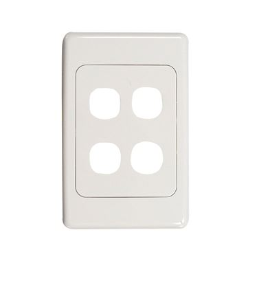 Picture of AMDEX Four Port RJ45 Face Plates AMDEX style.